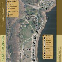 Sandy Beach Campground Map